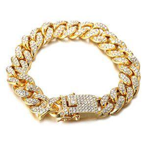 Kay Jewelers 18k Yellow Gold Cuban Bracelet 14mm